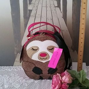 Betsey Johnson Sloth Lunch Tote NWT